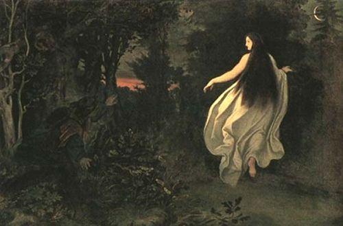 Moritz Ludwig von Schwind: Apparition in the forest