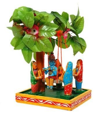 BRINDAVANAM - KONDAPALLI TOYS Material: Wood and Natural colors Color: Multicolor Package Content: 1 Utility: Can gift someone on a birthday, house warming ceremony, decorate the living room or make it a part of your showcase.
