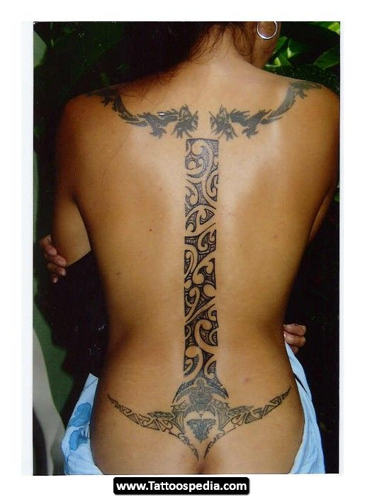 Polynesian%20Tattoos%20For%20Women 14 Polynesian Tattoos For Women 14- Gorgeous. I would only want the bottom part