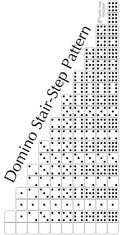Build Math Skills with the Domino Stair-Step Pattern
