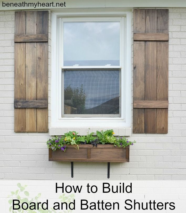 DIY Shutters for our Addition! {And good news!} - Beneath My Heart