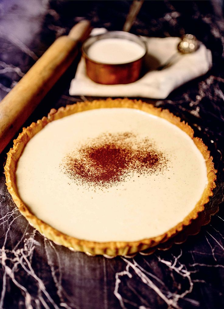 Melktert milk tart recipe from The Italian Baker by Melissa Forti | Cooked