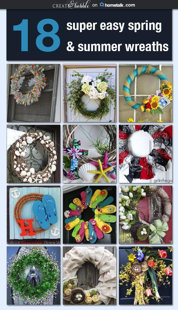 18 Super Easy Spring & Summer Wreaths