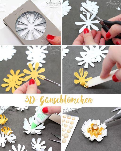 Stampin up Anleitung 3D Blume – Stampin up-Gaenseb…