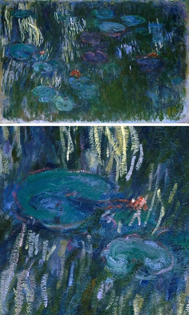 Water Lilies, 1916 by Claude Monet with Detail View | Lone Quixote | #ClaudeMonet #monet #impressionism #art #painting #detail #flowers #WaterLilies