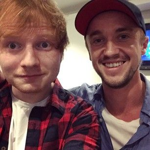 When he shared this moment with the unbelievably cute Ed Sheeran. | 17 Times Tom Felton Melted Your Heart On Instagram