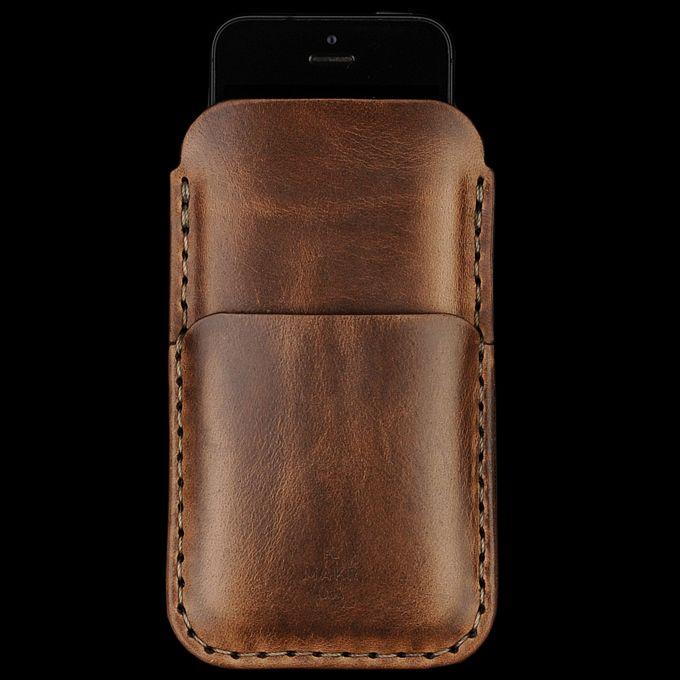 UNIONMADE - Makr - IPhone 5 Card Sleeve in Bark Chromexcel