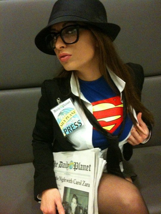 Female Clark Kent | Her buns of steel aren't to be messed with.