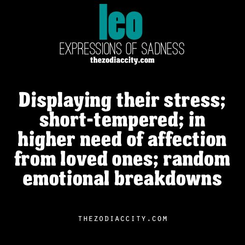 Leo expressions of sadness