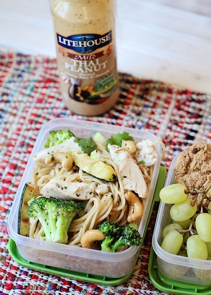 45 mejores imgenes sobre bentos en pinterest these thai peanut chicken noodles can be eaten hot or cold and the forumfinder Choice Image