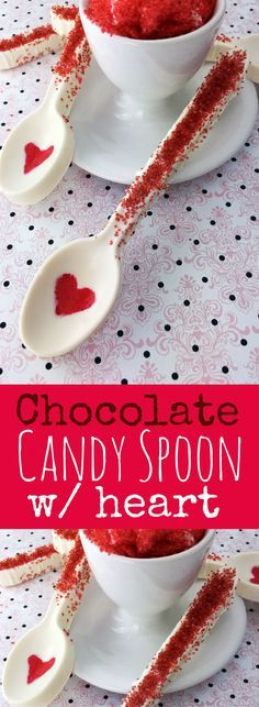 How to make an Easy Chocolate Spoon with Heart- diy chocolate spoon