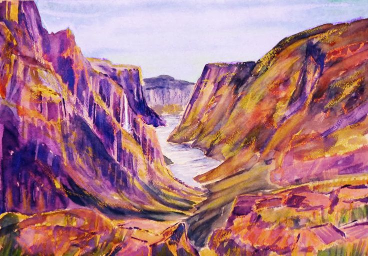 Gros Morne National Park, NL Watercolour, crayon and gouache ©2014 Charlene Brown, 1150 Words
