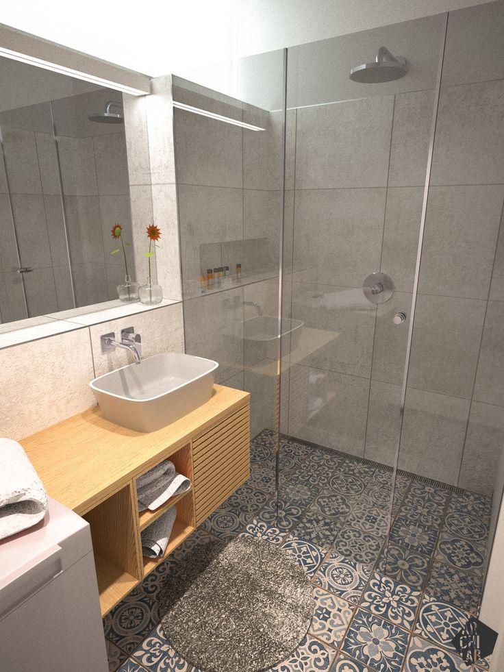 Návrh kúpeľne - Interiér bytu Dibrovova, Stará Turá - Interiérový dizajn / Bathroom interior by Archilab