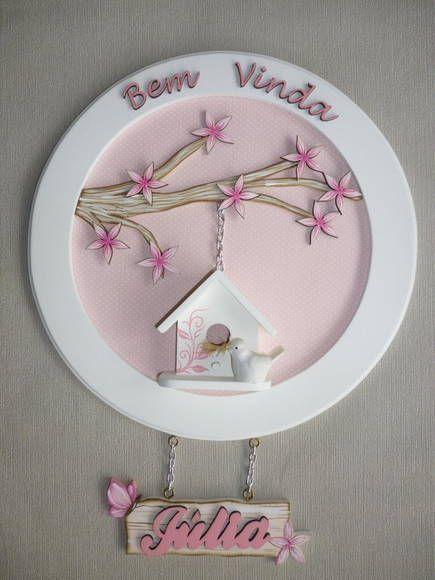 Mandala porta de maternidade personalizada.