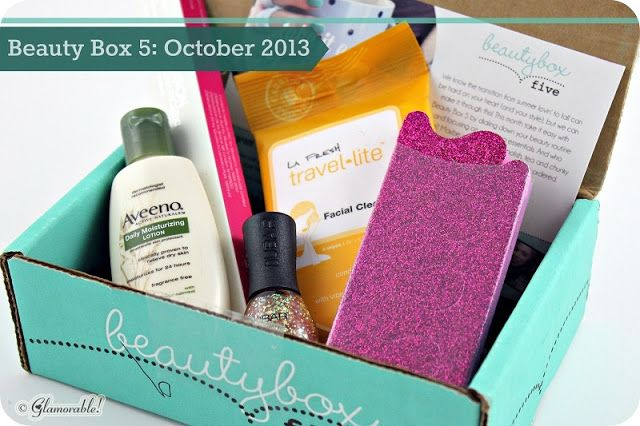 Beauty Box 5 Unboxing and Review: October 2013 | Glamorable!