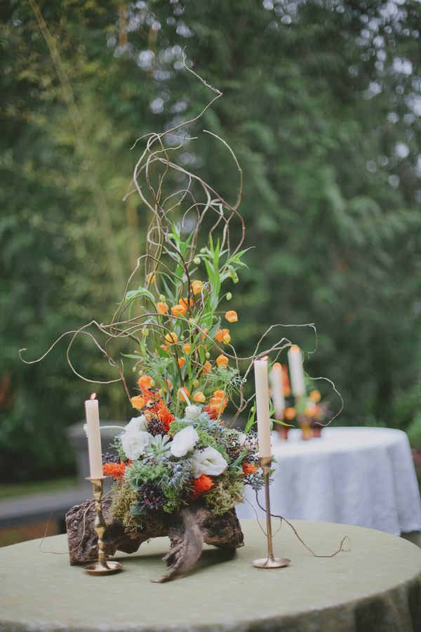 Wedding Venue: World Forestry Center / Wedding Photographer: emily g photography / Floral Designer: Floral Designs by Alicia / Event Planner: Events by Lisa Marie
