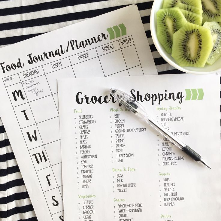 FREE 15-Page Printable Fitness Journal just for you! Food journal, grocery list options, workout tracker and more!