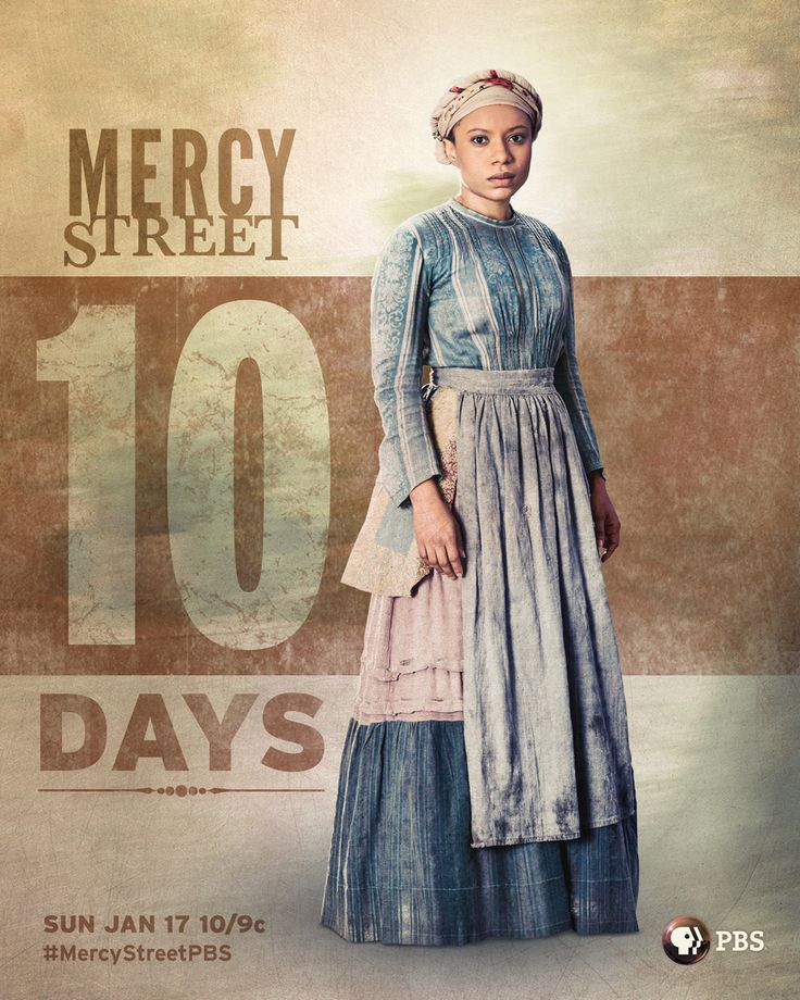 The countdown is on! We're officially only 10 days away from the premiere of the PBS original series Mercy Street, set in Civil War Alexandria, VA. Join us Sunday, January 17 at 10/9c. #MercyStreetPBS