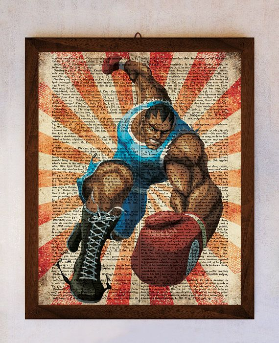 Street Fighter Poster Balrog Wall Art Balrog Book Page