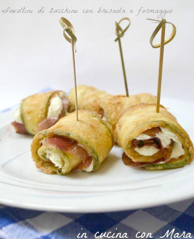 Involtini di zucchine con bresaola e formaggio | in cucina con Mara