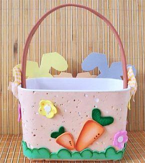 Este cesto de páscoa com reciclagem e decoração em EVA, tá muito linda e é só ela um presente. Aprenda e faça a sua.