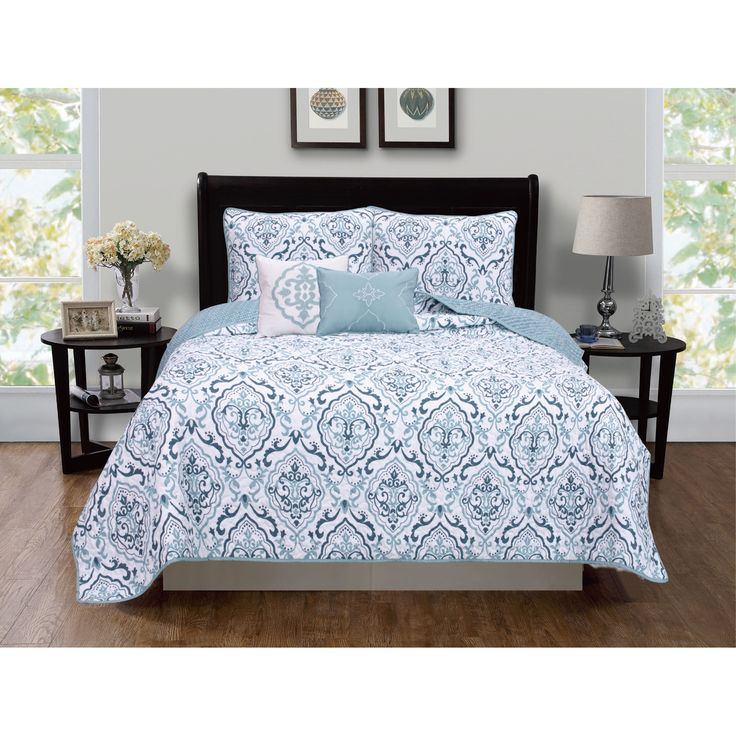 Home Fashion Designs Deena Collection 5-piece King Size Quilt Set with Shams and Decorative Pillows in