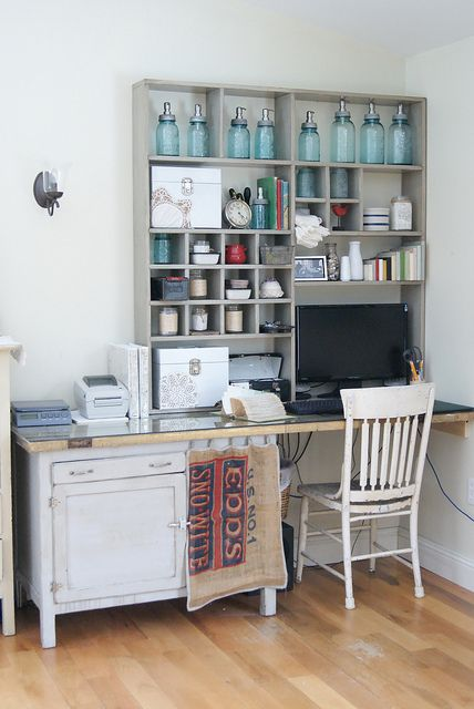 office: Crafts Rooms, Offices Spaces, Work Spaces, Offices Area, Workspaces, Farmhouse Style, Old Doors, Desks Ideas, Home Offices