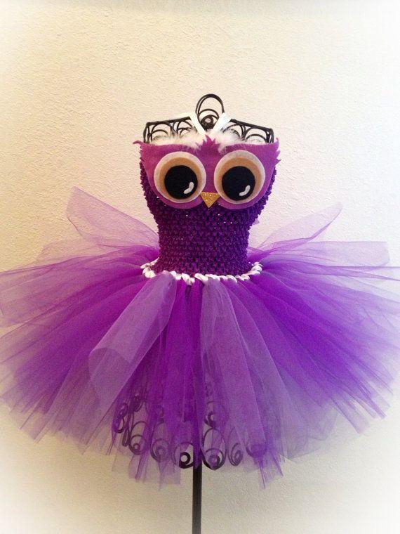 Owl Party - Owl Tutu Idea for Aria's First Birthday https://www.etsy.com/listing/120953266/purple-owl-tutu-dress-nb-4t