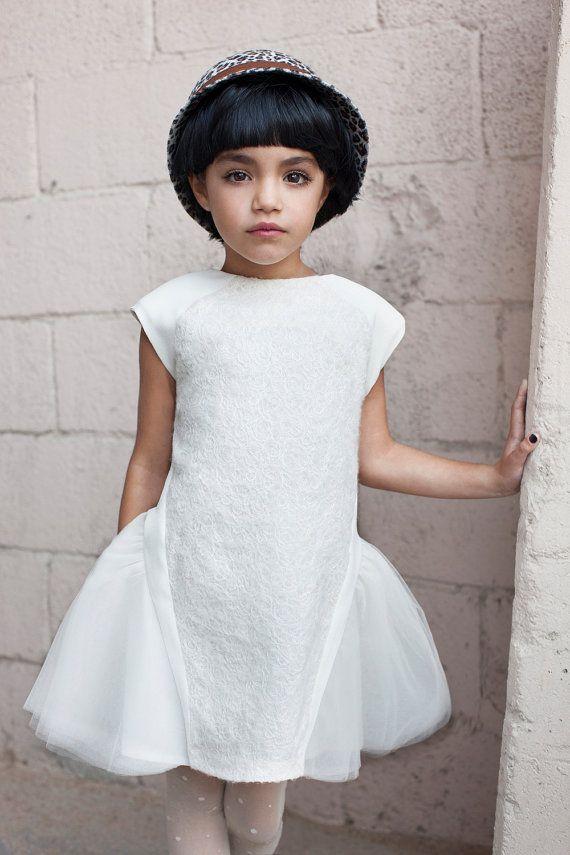Flower Girl Dress Ivory Tutu dress Ballerina by CatteliyaTT