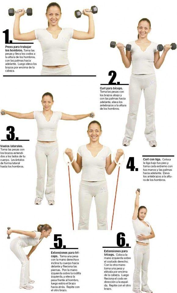 ejercicio para endurecer los triceps brazos flacidos - Buscar con Google