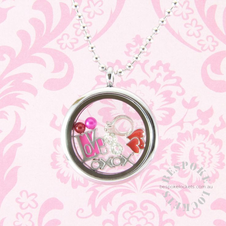 Floating Locket for Valentine's Day Round Stainless Steel