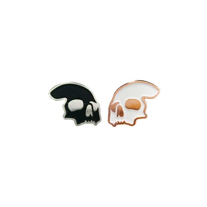 Image of die with me enamel pin set