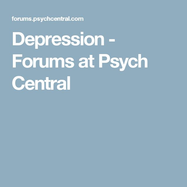 Depression - Forums at Psych Central
