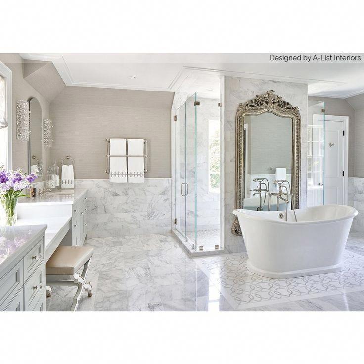 Asian Statuary 12x12 Polished Marble Tile In 2020 Modern Bathroom Design White Bathroom Interior Luxury Bathroom