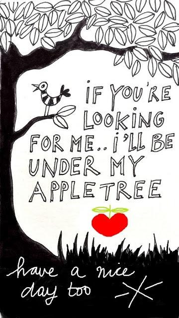 Als je mij zoekt? Ik lig onder mijn appelboom #citaten #spreuken