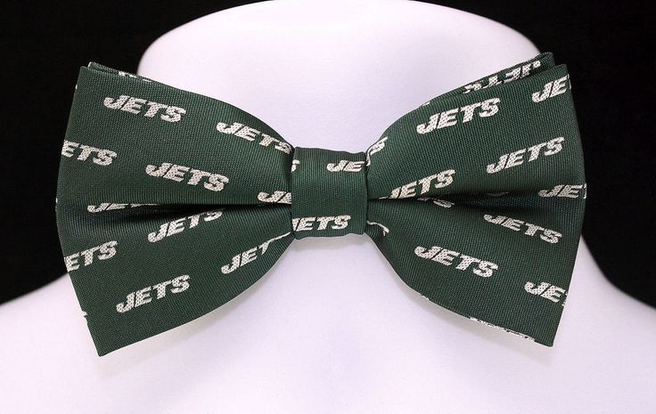 New New York Jets Logo Mens Bow Tie Pre Tied Adjustable NFL ...