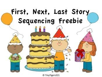 First, Next, Last Story Sequencing Freebie. Repinned by SOS Inc. Resources pinterest.com/sostherapy/.