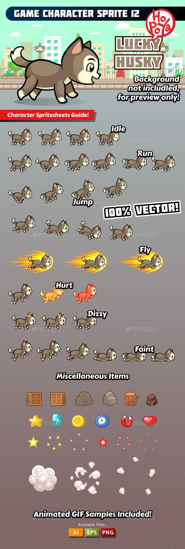 Game Character Sprite 12 — Vector EPS #vector #sprite sheet • Available here → https://graphicriver.net/item/game-character-sprite-12/10356696?ref=pxcr