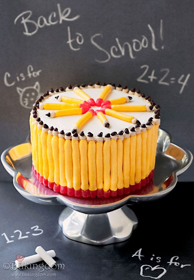 do you have any back to school traditions? How about a cake like this one? #backtoschool