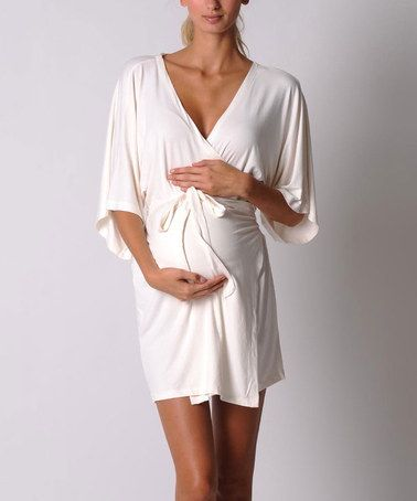 Best Maternity/After Baby Robe ever!  A must for the hospital bag!! Need this in black or red. I'll never ever ever wear an ugly cheap perscale hospital  gown