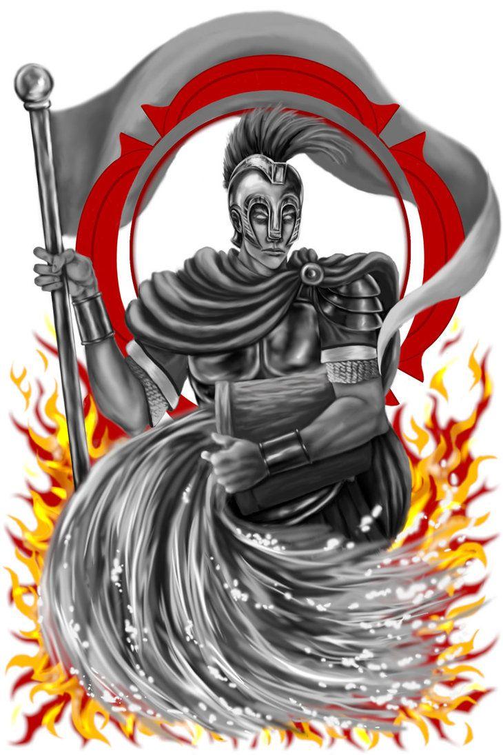 Saint Florian Tattoo Brandweer Firefighter Pinterest