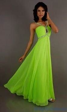 Awesome neon green prom dresses
