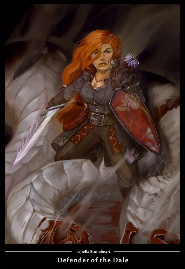 Dwarf fighter by wood-illustration.deviantart.com on @DeviantArt