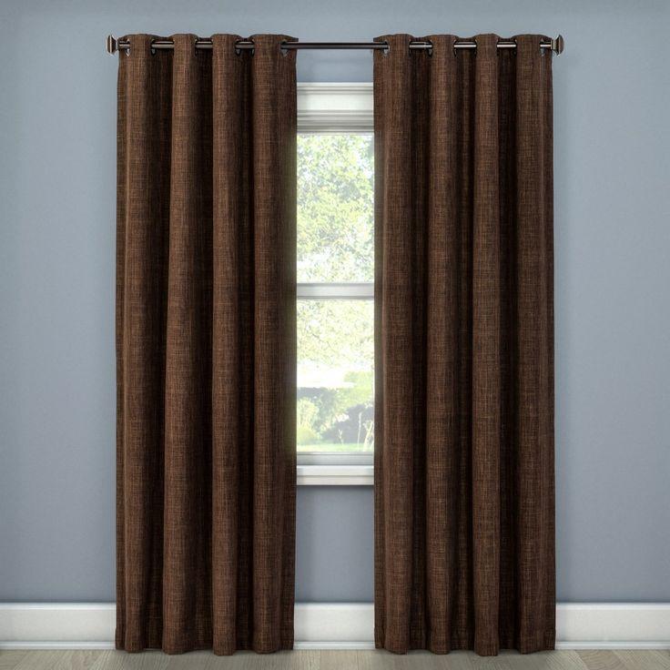 "Rowland Light Blocking Curtain Panel Chocolate (Brown) (52""x108"") - Eclipse"
