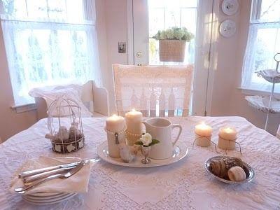Интерьер в стиле шебби шик в отдельно взятой квартире. Кухня-столовая 1