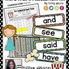 CCSS KINDERGARTEN POPCORN WORD WALL & ASSESSMENT KIT Simple, cute, brightly-colored Common Core aligned popcorn word cards will look GREAT in your classroom!  Create an interactive Popcorn Word Wall to display and practice Common Core high-frequency sight words throughout the year. Students can track their own progress on adorable mini-popcorns. Easy-to-use assessment kit is also included in this file along with step-by-step directions for giving assessments and recording data.