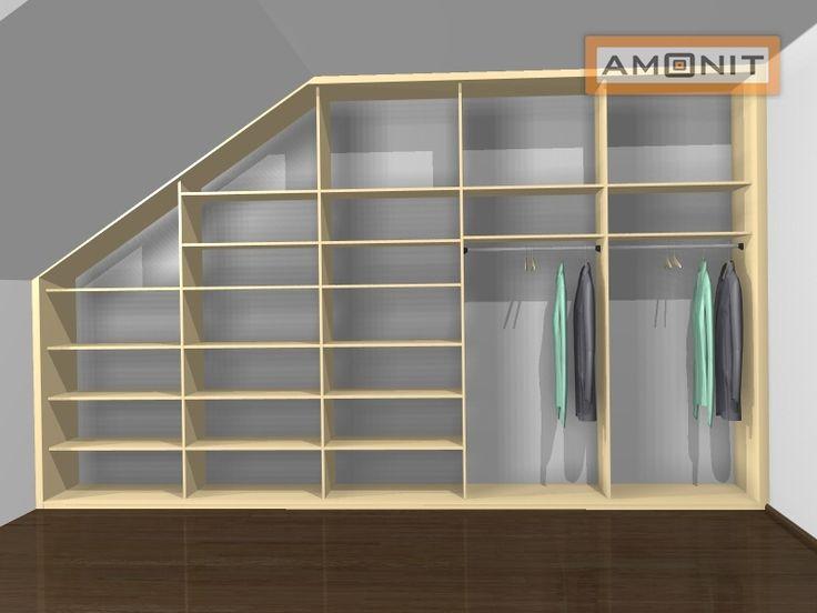 Ukázka vnitřního uspořádání vestavěné skříně - 24. varianta