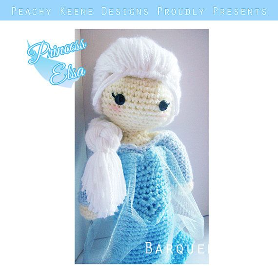 Crochet Elsa Amigurumi : Crochet Doll - Frozen Inspired - Princess Elsa Inspired ...