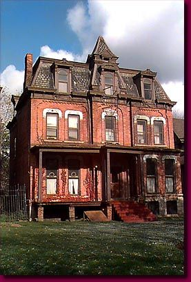 Mansard Roofed House on Canfield Street - Detroit, Michigan