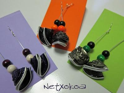 Pendientes hechos con cápsulas nespresso.    Earrings of capsules nespresso